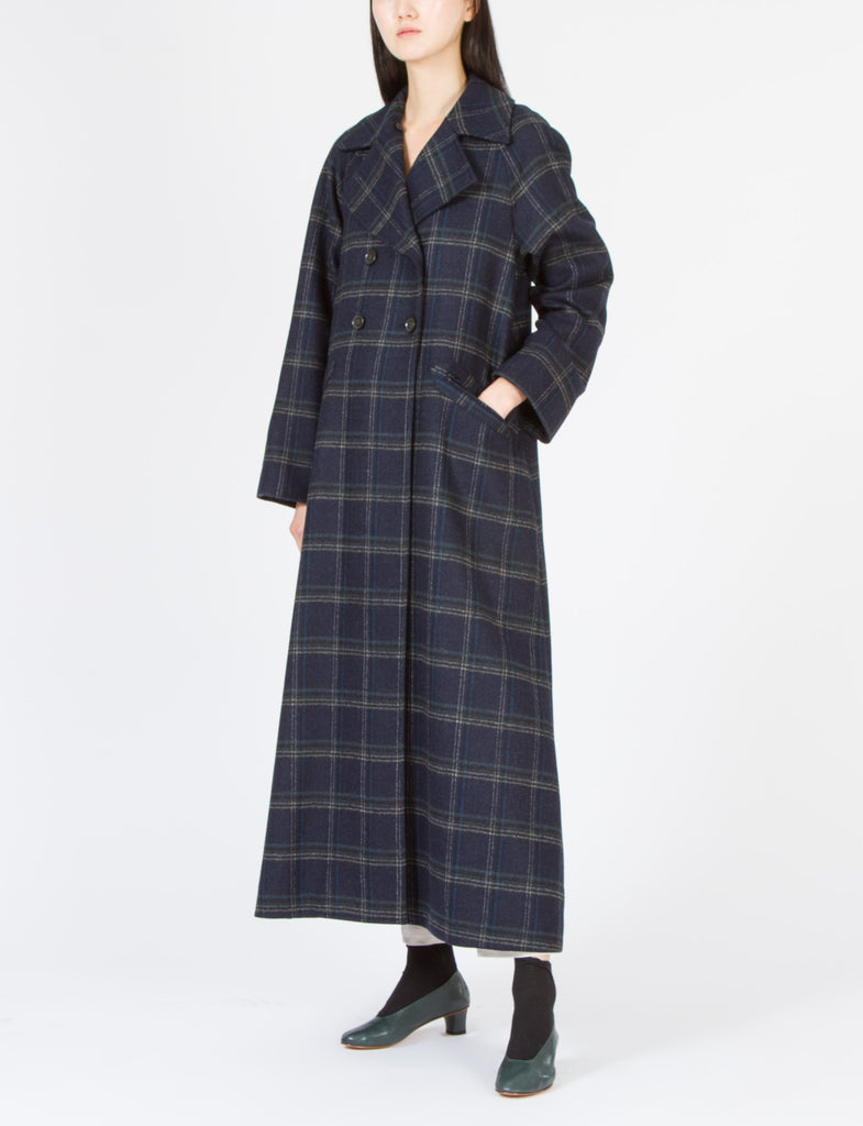 Alder Coat Double Faced Wool