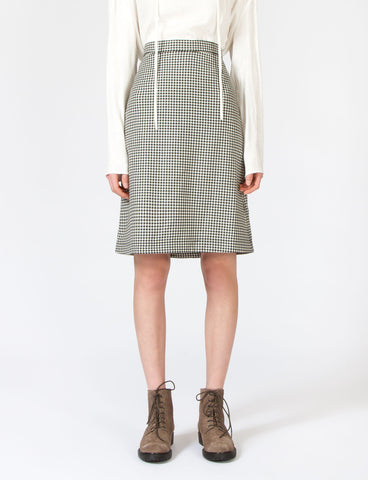 Amur Skirt Houndstooth Suiting
