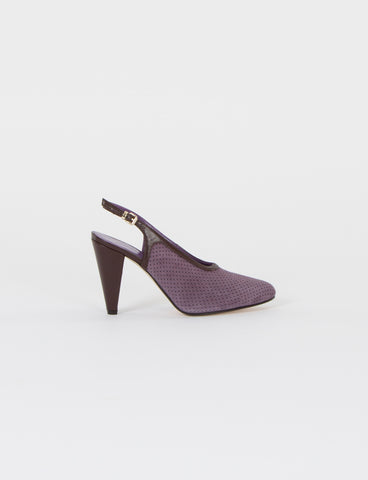 Anais Slingback Perforated Suede