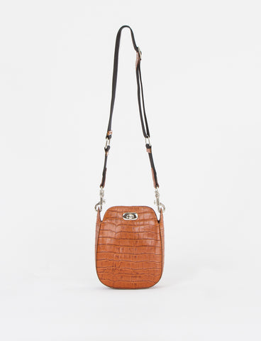 Boulder Bag Small Embossed Croc