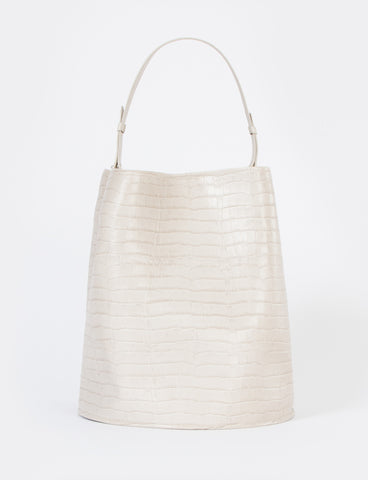 Bucket Bag Large Embossed Croc