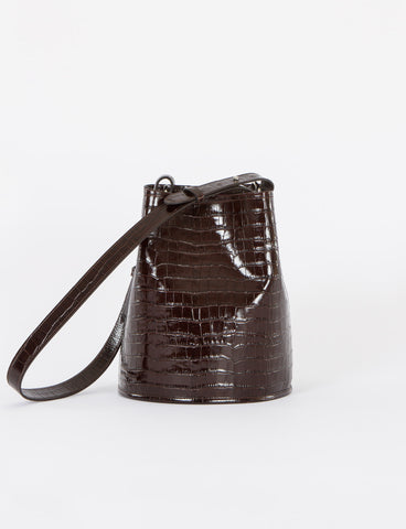 Bucket Bag Small Embossed Croc