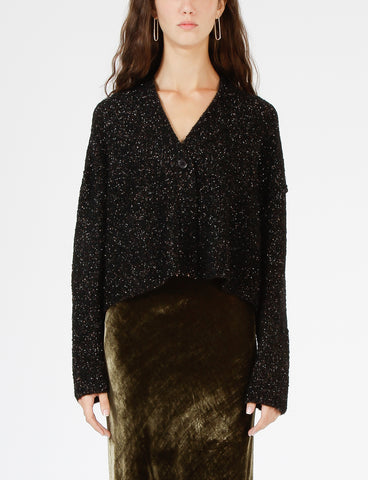 Cropped Cardigan Lurex Boucle