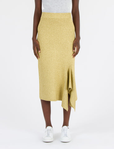 Drape Slit Skirt Lurex