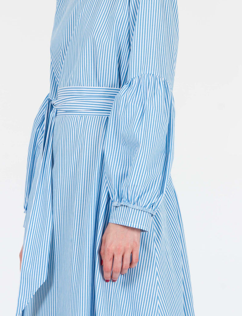 Echo Dress Striped Cotton