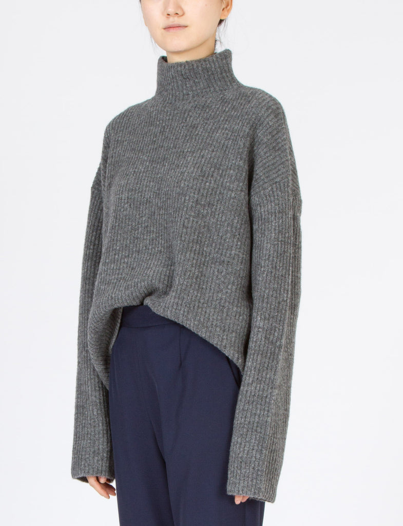 Funnel Neck Sweater Felted Wool
