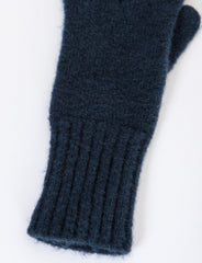 Ribbed Gloves Felted Wool