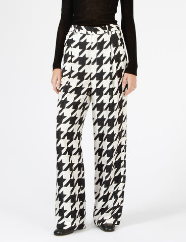 Harriette Pant Houndstooth Silk