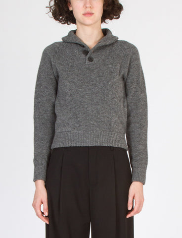 High Collar Pullover Wool