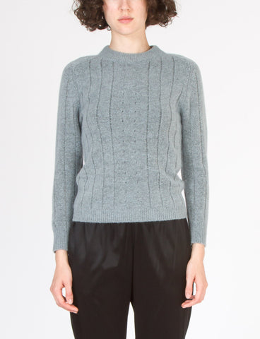 Pointelle Saddle Sleeve Sweater