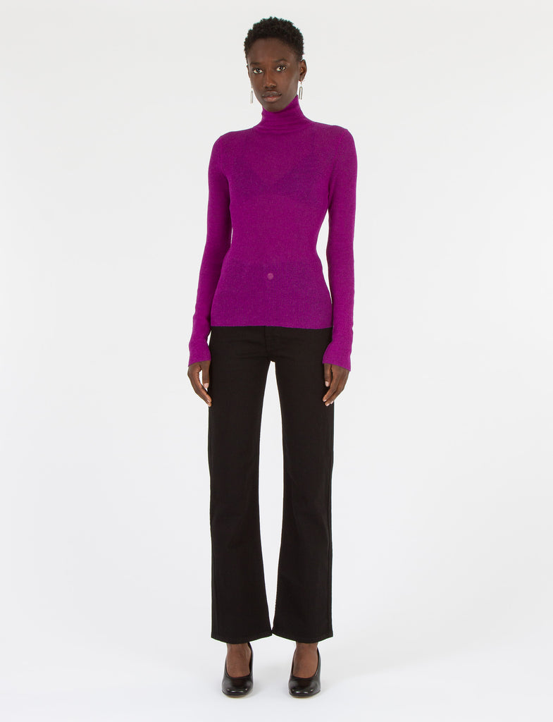 Sheer Turtleneck High Twist