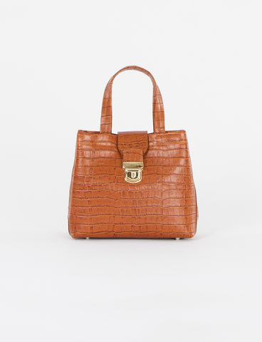 Silvie Bag Small Embossed Croc
