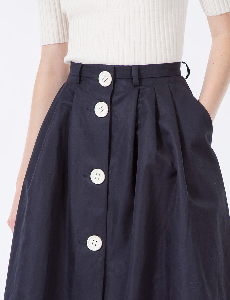Start Button Down Skirt