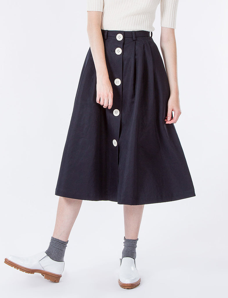 Button Down Flare Skirt