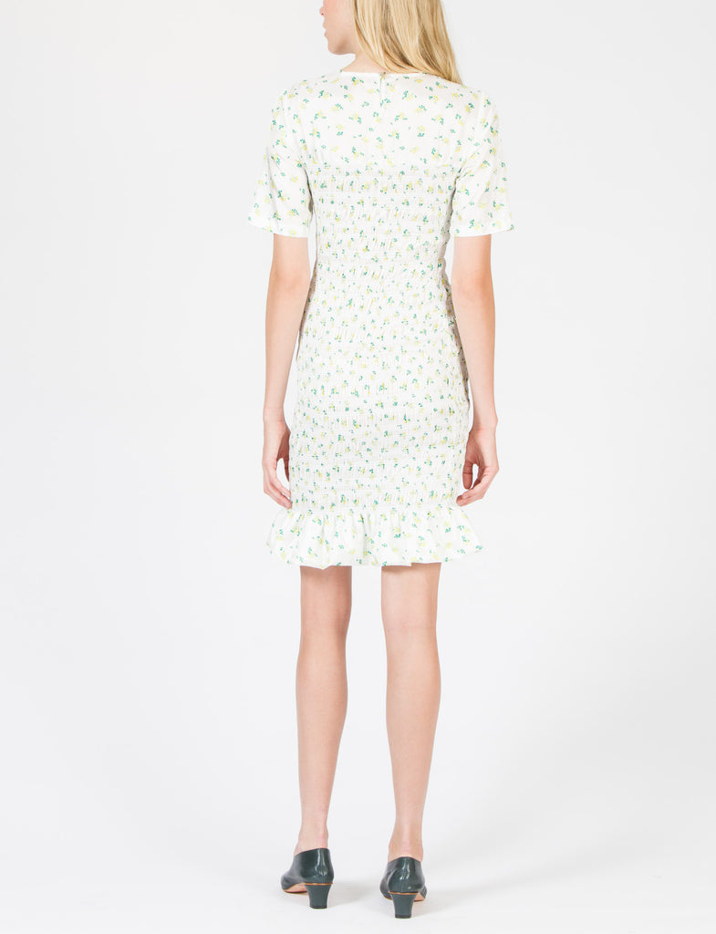 Mayfair Dress Floral Habotai - Creatures of Comfort