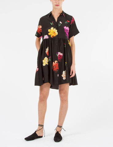 Bally Dress Floral Silk Crepe De Chine