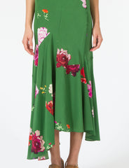 Calderon Dress Floral Silk Crepe de Chine