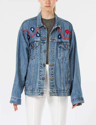 Frida Jacket Denim Embroidery