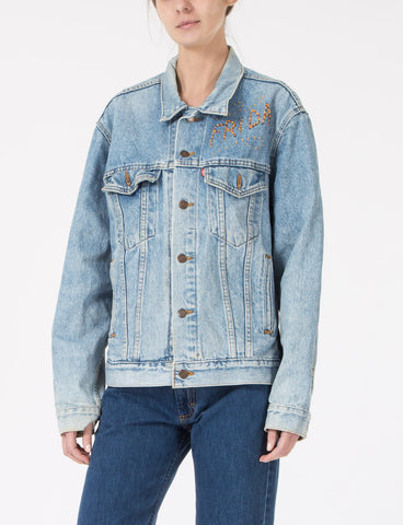 Frida Denim Jacket with Embroidery