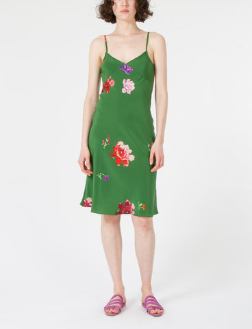 Gaia Slip Dress Floral Silk