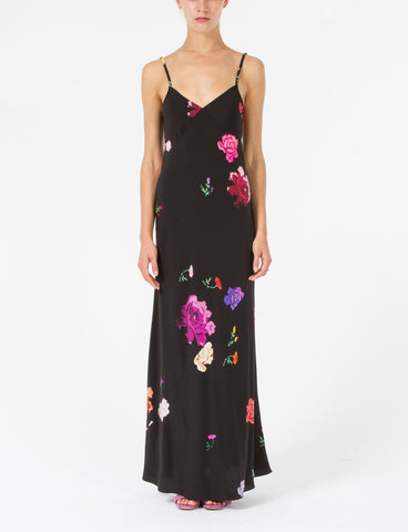 Marlene Dress Floral Silk Crepe de Chine