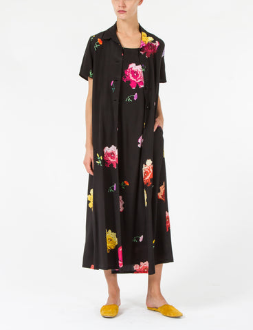 Moritz Dress Floral Silk Crepe de Chine