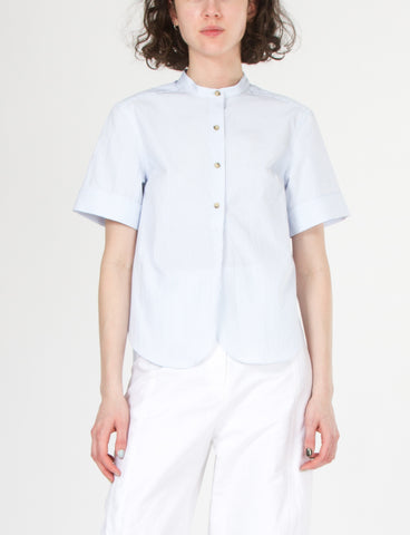Paulina Top Striped Shirting