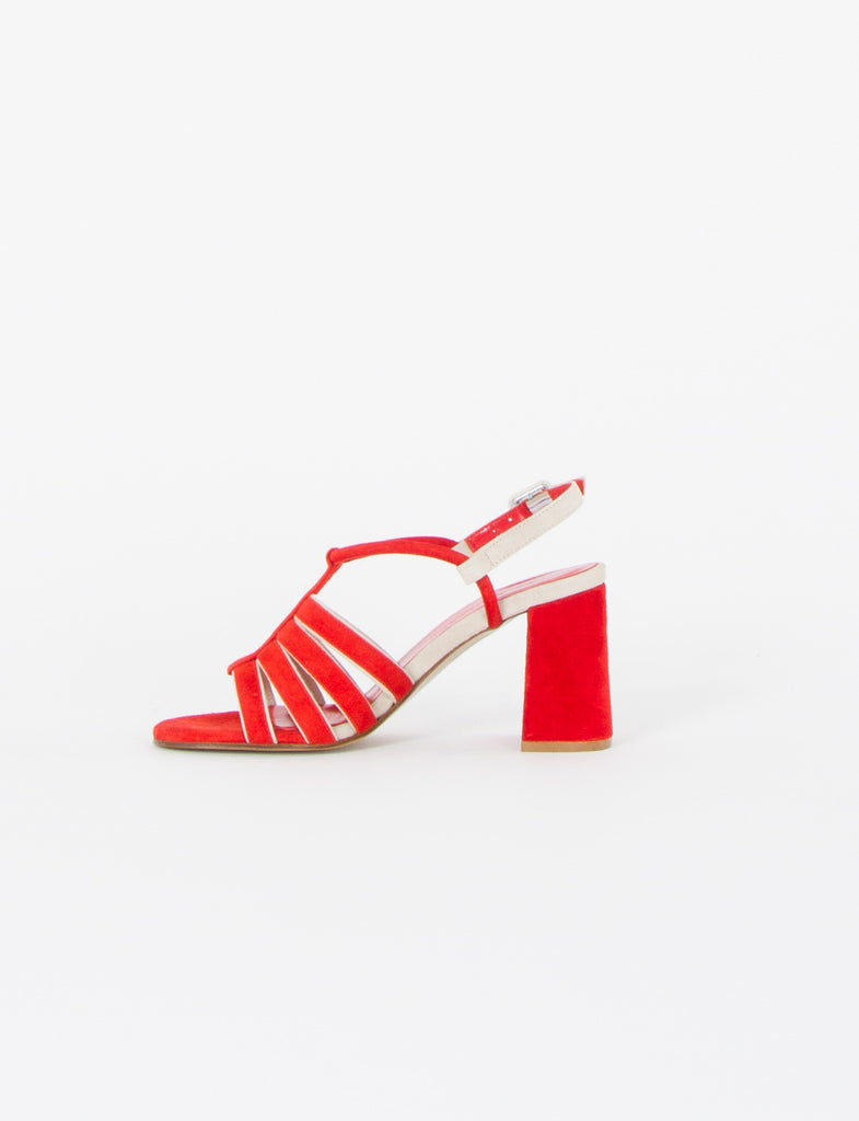 Penny Heeled Sandal Suede