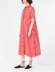 Raina Dress Cupro Check