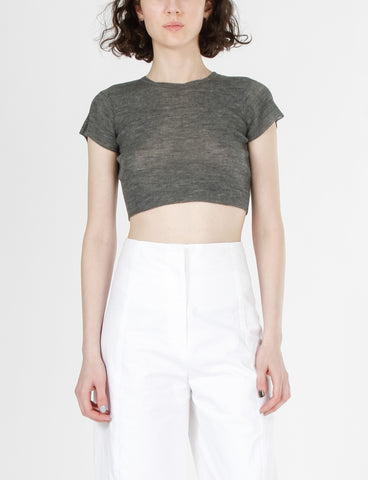 Shrunken Cropped Tee High Twist