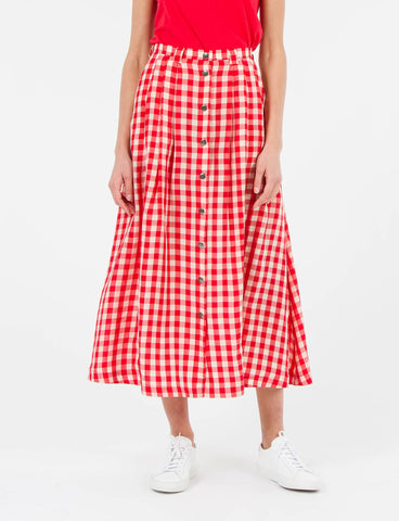 Valentina Skirt Cupro Check