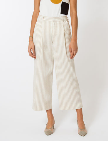 Creatures of Comfort Henry Pant Striped Cotton Linen
