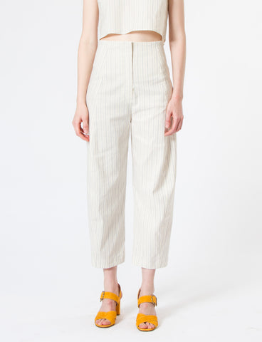 Crescent Pant Striped Cotton Linen - Creatures of Comfort