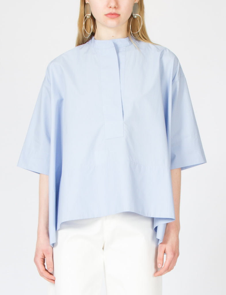 Creatures of Comfort Kyle Top Cotton Shirting in Sky