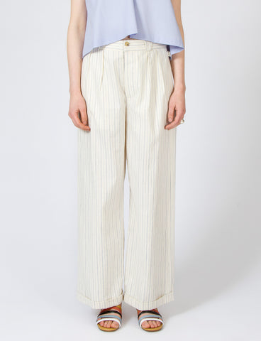 Lazlo Pant Striped Cotton Linen - Creatures of Comfort