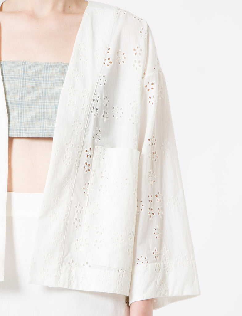 Creatures of Comfort Lou Jacket Open Eyelet