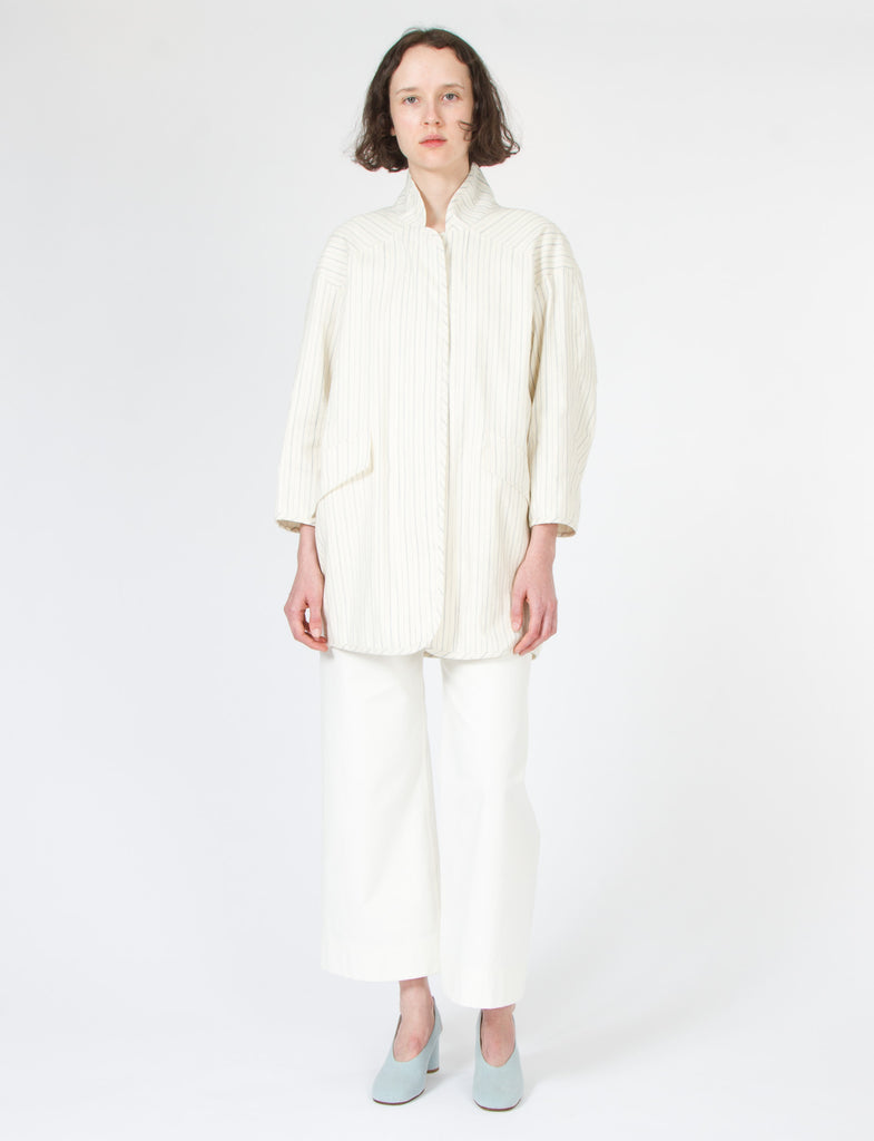 Duffey Jacket Striped Cotton Linen - Creatures of Comfort