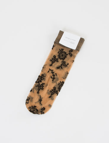 Floral Sock Nylon Lace