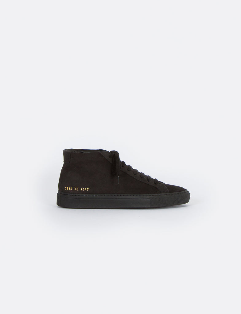 Black Nubuck Original Achilles Mid Sneakers Common Projects Clearance Free Shipping LUh42J