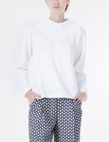 Double-Knit Neck Sweatshirt
