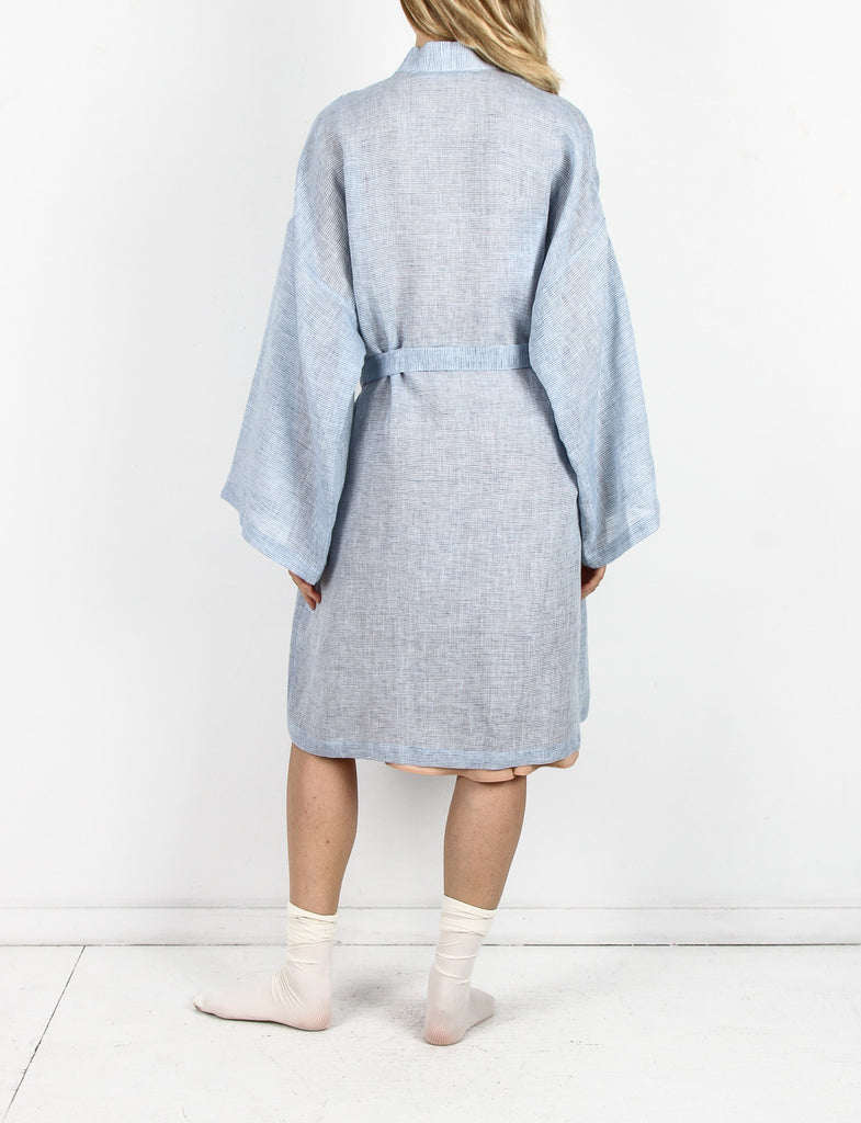 Robe Washed Linen Stripes
