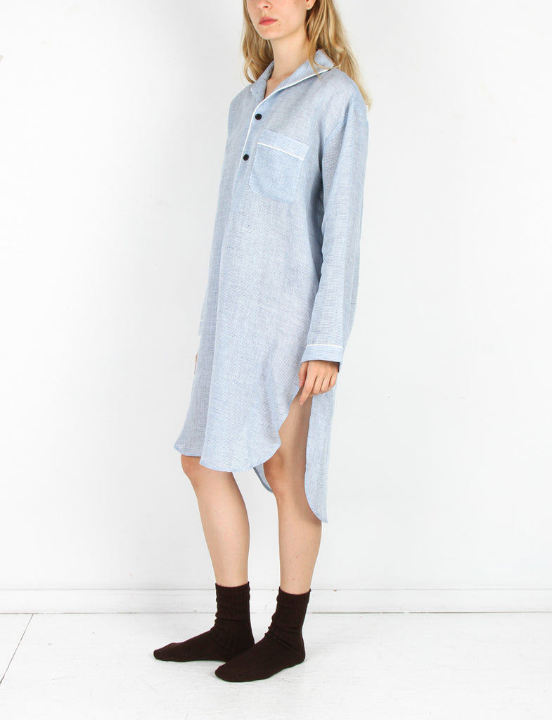 Nightshirt Washed Linen Stripe