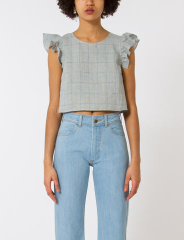 Creatures of Comfort Gemma Top French Plaid