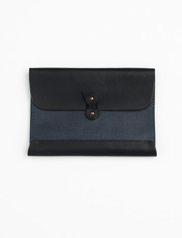 Postcard Wallet Leather Black