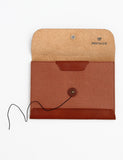 Postcard Wallet Leather Tan