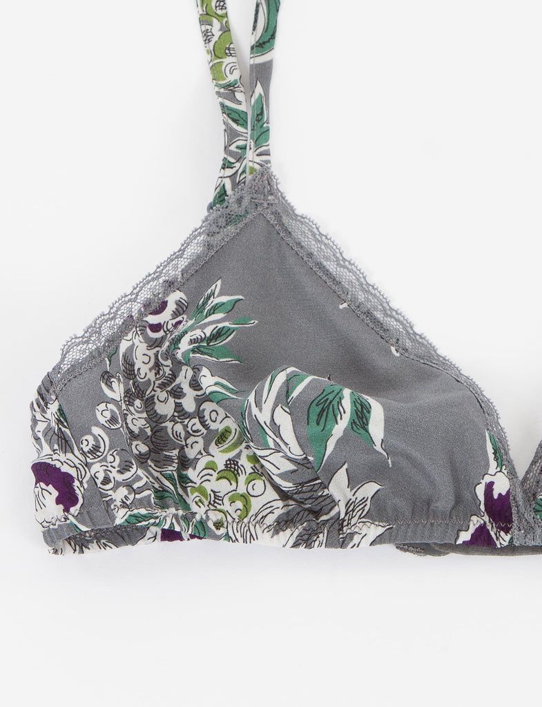 Printed Silk Bra