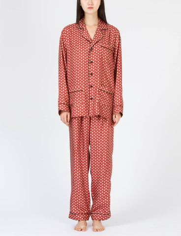 Pajama Set Herrend Print Silk - Creatures of Comfort