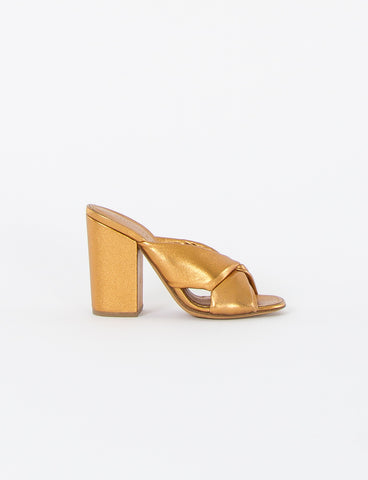 Soft X Slide Block Heel Sandal