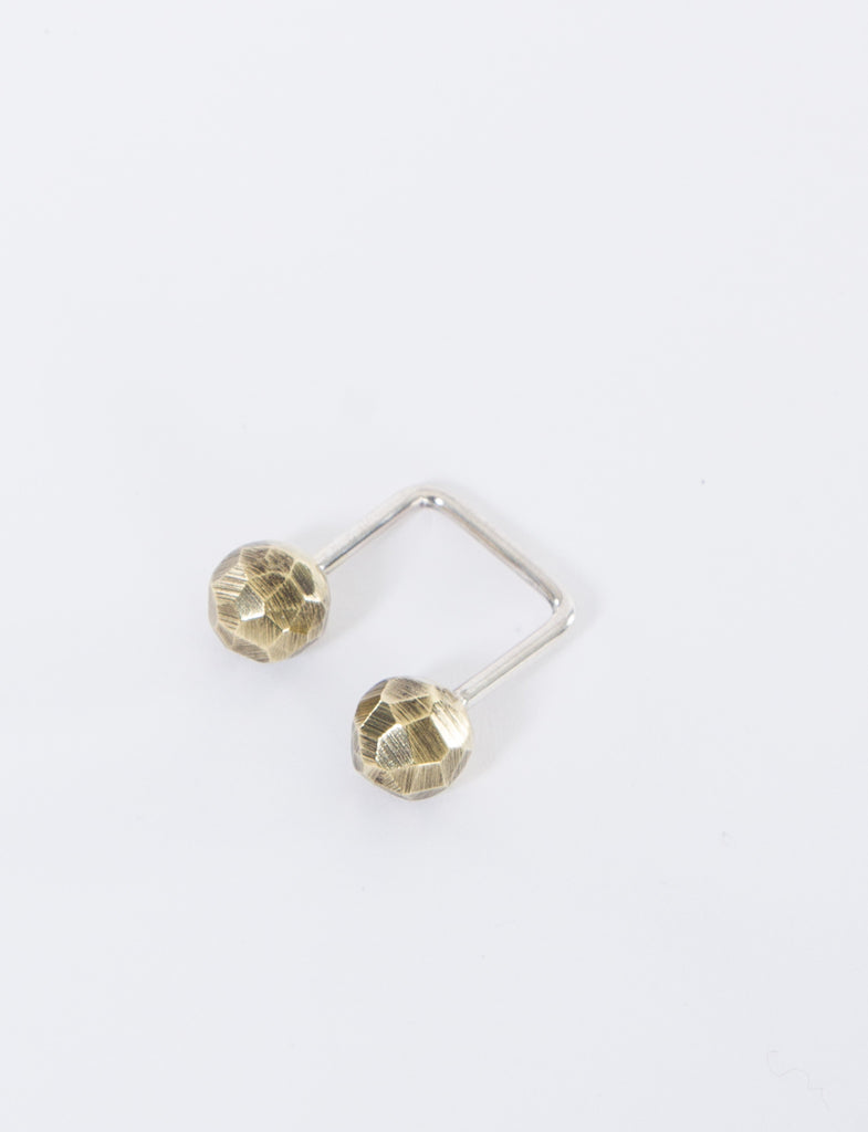 Faceted Brass Ring