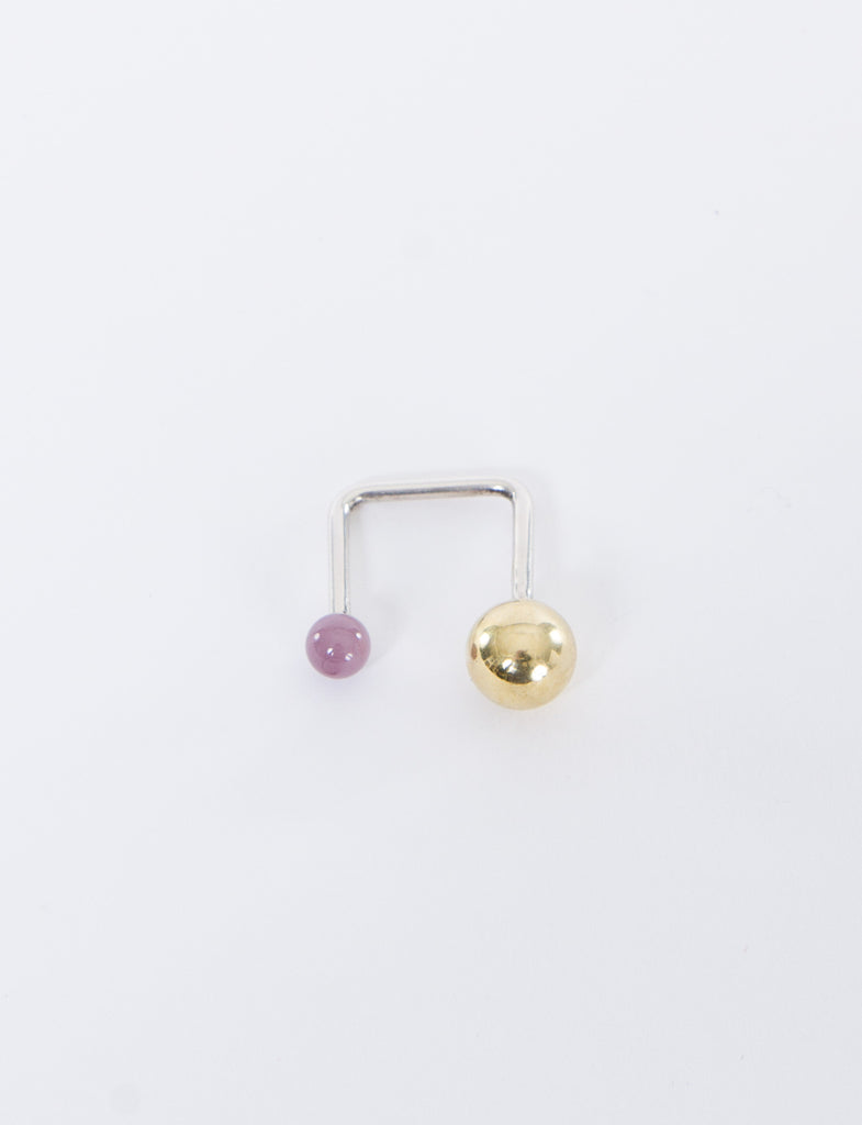 Big Brass Small Lilac Ring